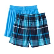 Croft and Barrow 2-pk. Plaid Knit Boxers