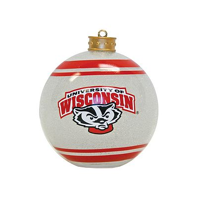 Wisconsin Badgers Light-Up Ball Ornament