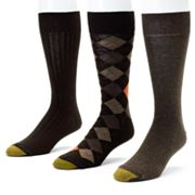 GOLDTOE 3-pk. Double-Argyle Dress Socks