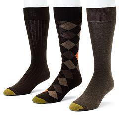 Men's GOLDTOE 3 pkDouble-Argyle Dress Socks