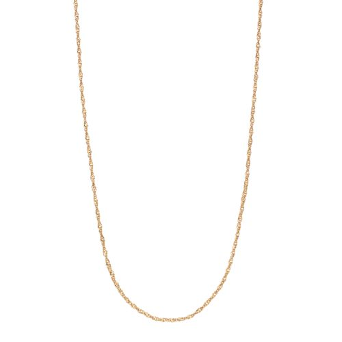 24k Gold Over Silver Singapore Chain Necklace - 18 in.