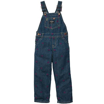OshKosh B'gosh Embroidered Denim Overalls - Baby