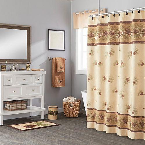Saturday Knight, Ltd. Pinehaven Fabric Shower Curtain