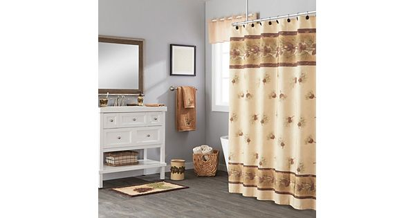 Saturday Knight Ltd Pinehaven Fabric Shower Curtain