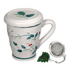 Pfaltzgraff Winterberry Tea Diffuser Mug