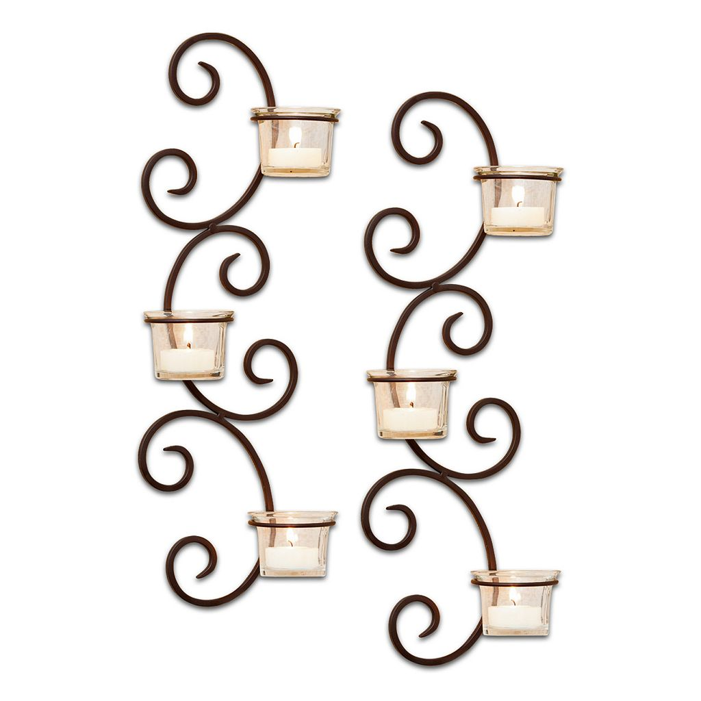 San Miguel 2-pc. Classic Tealight Candleholder Wall Sconce Set