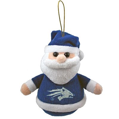 Nevada Wolf Pack Plush Santa Ornament