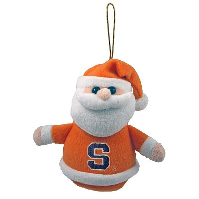 Syracuse Orange Plush Santa Ornament