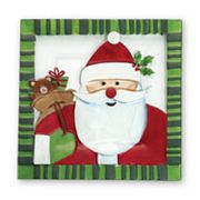 Pfaltzgraff Santa with Presents Square Serving Platter