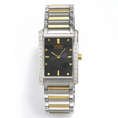 Citizen Eco-Drive Palidoro Two Tone Stainless Steel Diamond Accent Watch - BL6064-52E - Men