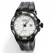 Citizen Eco-Drive Scuba Fin Stainless Steel Black Ion Dive Watch - BN0095-08A - Men
