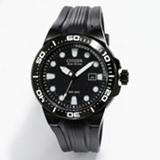 Citizen Eco-Drive Scuba Fin Stainless Steel Black Ion Dive Watch - BN0095-08E - Men