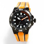 Citizen Eco-Drive Scuba Fin Stainless Steel Black Ion Dive Watch - BN0097-11E - Men