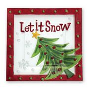 Pfaltzgraff Let it Snow Square Serving Platter