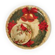 Pfaltzgraff Cardinal Wreath Chip and Dip Set