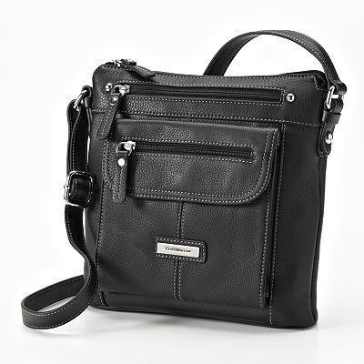 Croft and Barrow Leather Cross-Body Bag