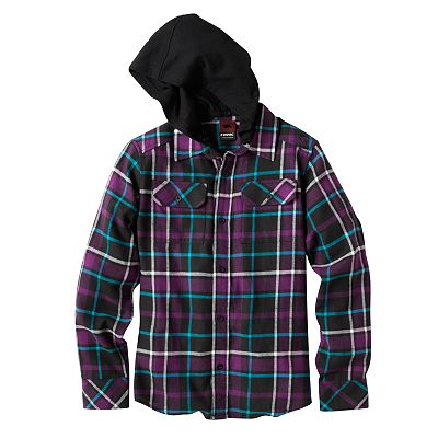 Tony Hawk Transfer Flannel Hoodie - Boys 8-20