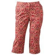 Croft and Barrow Scroll Capris - Women's Plus