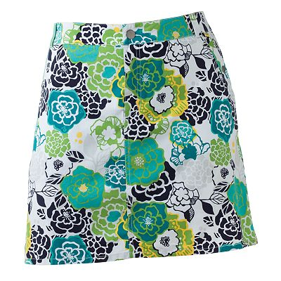 Croft and Barrow Floral Poplin Skort - Women's Plus