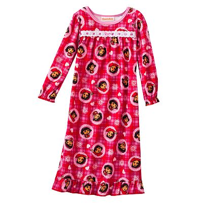 Dora the Explorer Plaid Nightgown - Toddler