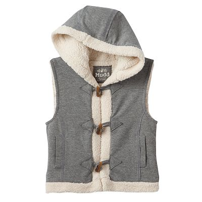 Mudd Hooded Fleece Toggle Vest - Girls Plus