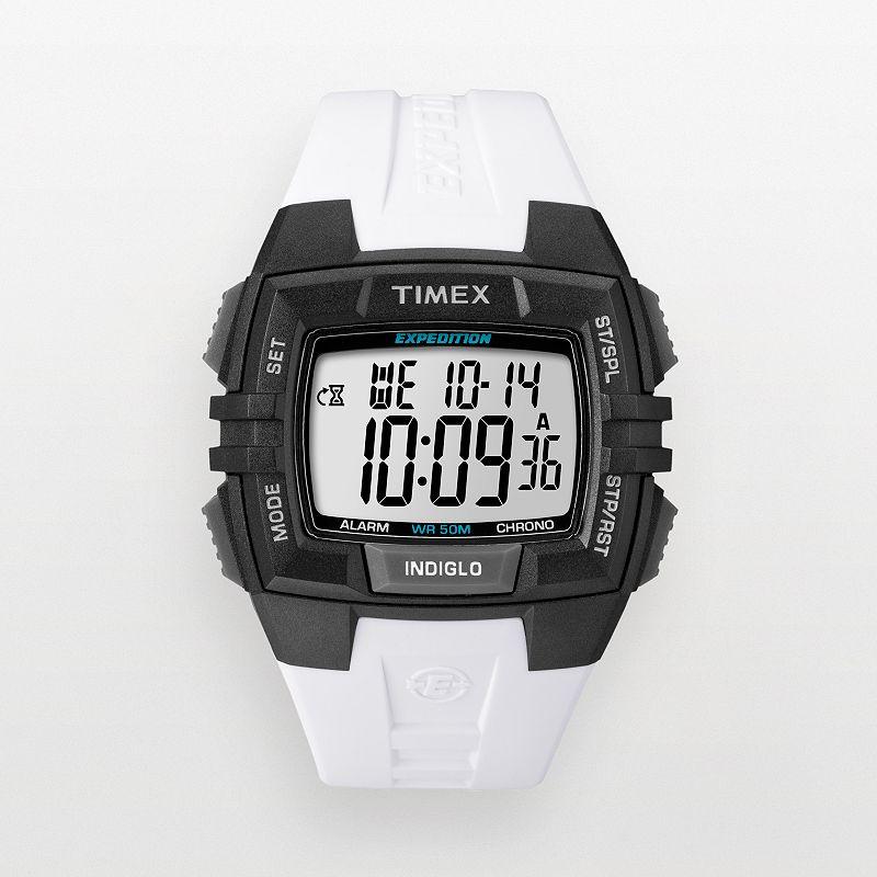 Timex Expedition Black & White Resin Digital Chronograph Watch - T49901KZ - Men