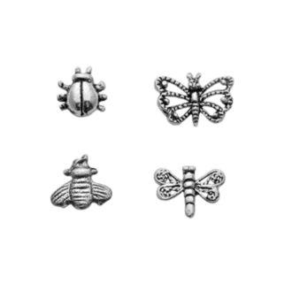 Itsy Bitsy Sterling Silver Mismatch Bug Stud Earring Set