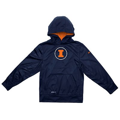 Nike Illinois Fighting Illini Therma-FIT Hoodie - Boys 4-7