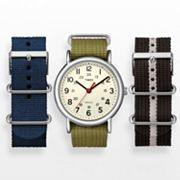 Timex Weekender Silver Tone Watch Set - UG0105YW - Men