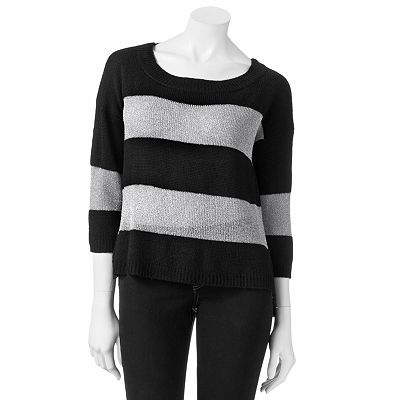 Candie's Striped Lurex Sweater - Juniors