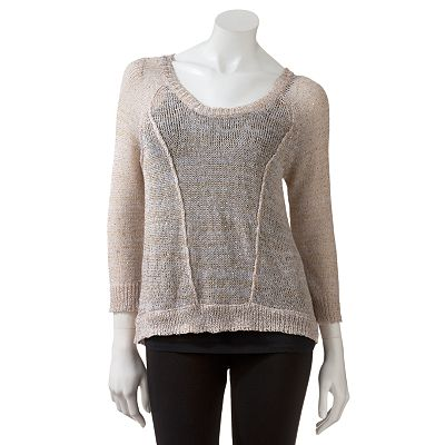 Candie's Hi-Low Sequin Sweater - Juniors