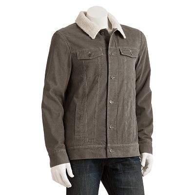 Hang Ten Sherpa-Lined Corduroy Jacket - Men
