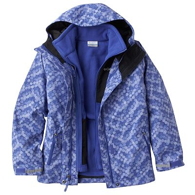 Columbia Too Complex 3-in-1 Dot Waterproof Hooded Jacket - Girls 4-6x