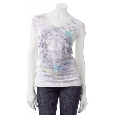 Mudd Floral Face Tee - Juniors