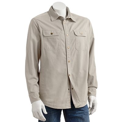 Croft and Barrow Twill Shirt Jacket - Men