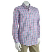 Chaps Windy Pines Tattersall Plaid Casual Button-Down Shirt