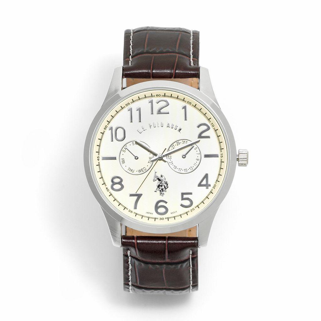 U.S. Polo Assn. Men's Leather Watch - USC50013A