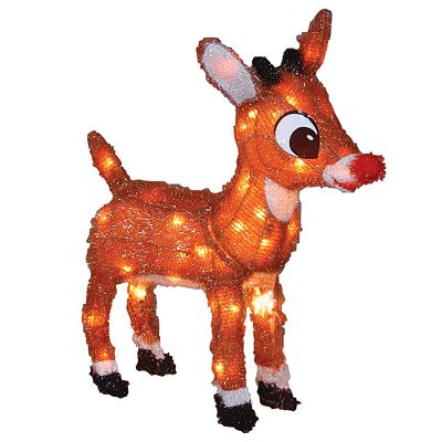 Rudolph the Red-Nosed Reindeer Pre-Lit Rudolph Outdoor Decor