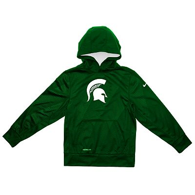 Nike Michigan State Spartans Therma-FIT Hoodie - Boys 4-7