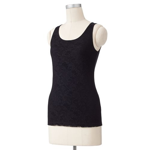 SONOMA Goods for Life™ Lace Mixed-Media Tank
