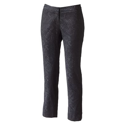 Apt. 9 Brocade Straight-Leg Pants