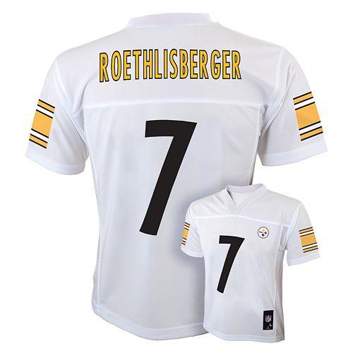 free shipping 3cb3c eb002 Boys 8-20 Pittsburgh Steelers Ben Roethlisberger NFL Replica ...