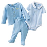 Chaps Striped Polo Bodysuit Set - Baby