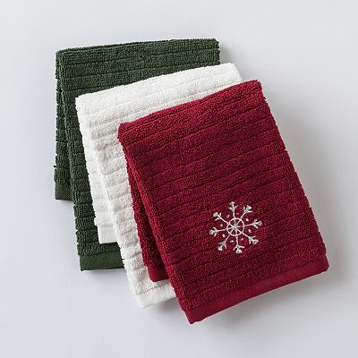 Food Network Holiday 3-pk. Bar Mop Dishcloths