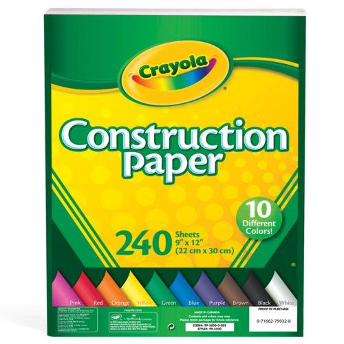 Crayola 240-ct.Construction Paper