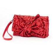 Gunne Sax by Jessica McClintock Sequin Bow Convertible Wristlet
