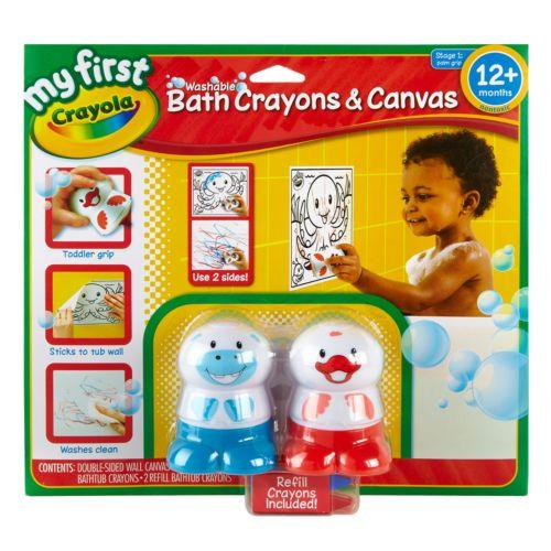 Crayola My First Bath Crayons and Canvas Set