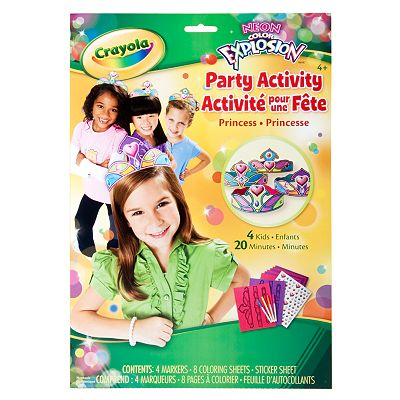 Crayola Neon Color Explosion Party Activity Princess Set