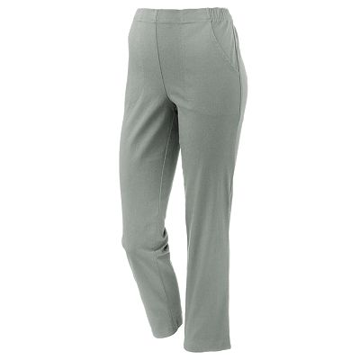 Croft and Barrow Pull-On Straight-Leg Twill Pants - Petite