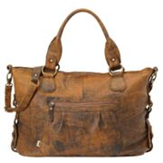OiOi Jungle Leather Slouch Diaper Tote